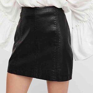 Modern Femme Vegan Leather Mini Skirt Free People